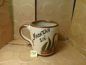 Image Is Loading Mazatlan Sin Mexico Pottery Coffee Mug Used Euc