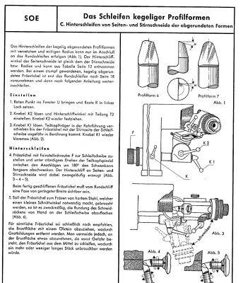 Ausdrucksvoll Deckel Soe Werkzeugschleifmaschine Bedienungsanleitung Neueste Technik