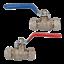 2pk 15 mm Levier de vanne à bille Bleu /& Rouge Poignée Laiton Compression Raccord d/'arrêt
