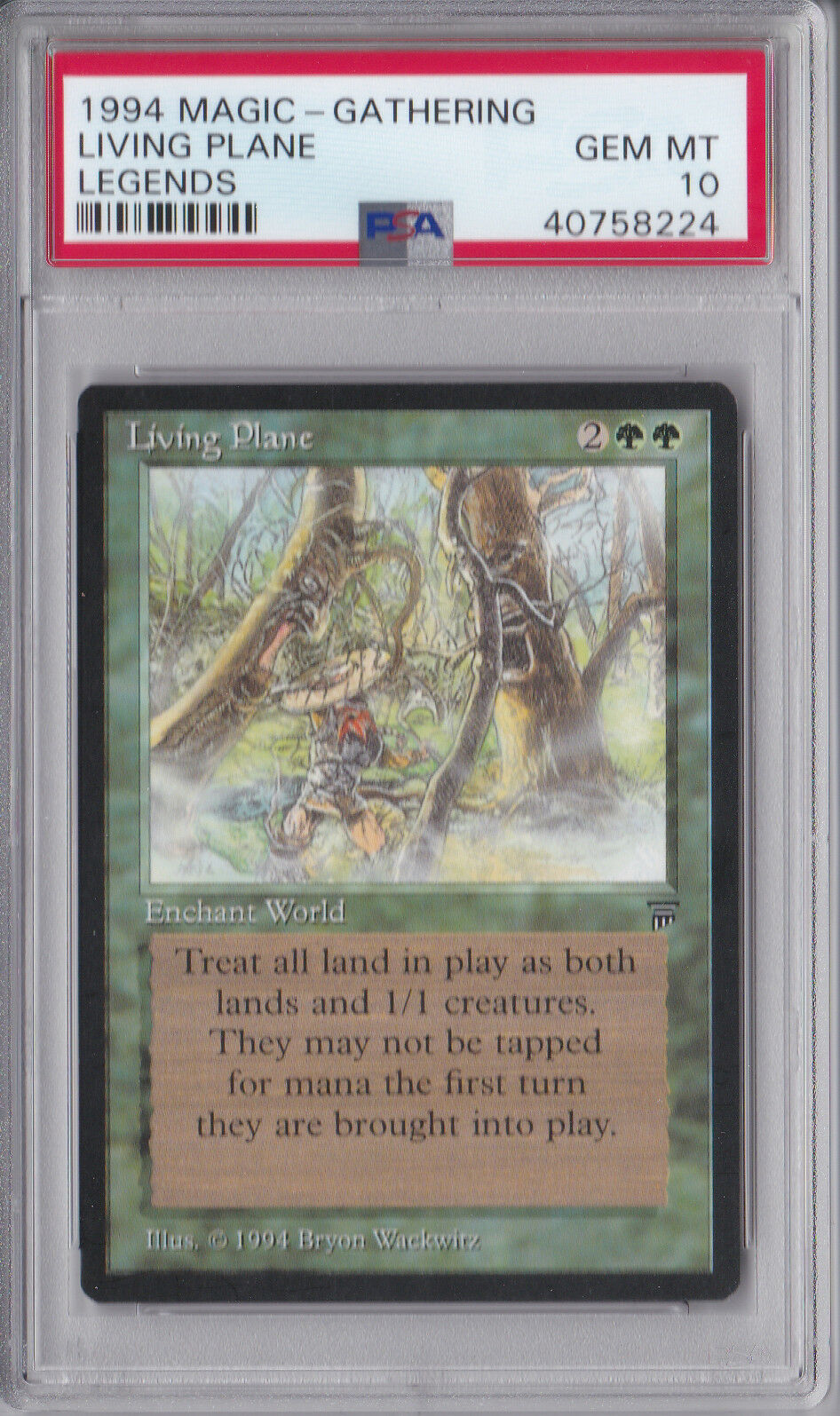 Living Plane x1 PSA 10 GEM MINT Legends Magic 1x MTG