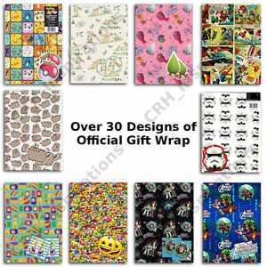 Official-Gift-Wrap-Paper-2-Sheets-2-Tags-Wrapping-inc-Disney-Marvel