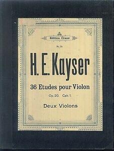 H-E-Kayser-36-Etudes-pour-Violon-Op-20-Cah-1-priv-gebunden