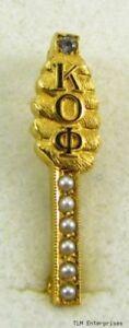 Kappa-Omicron-Phi-Fraternidad-Prendedor-Pin-Abeja-Hive-Bolitas-Perlas-Vintage