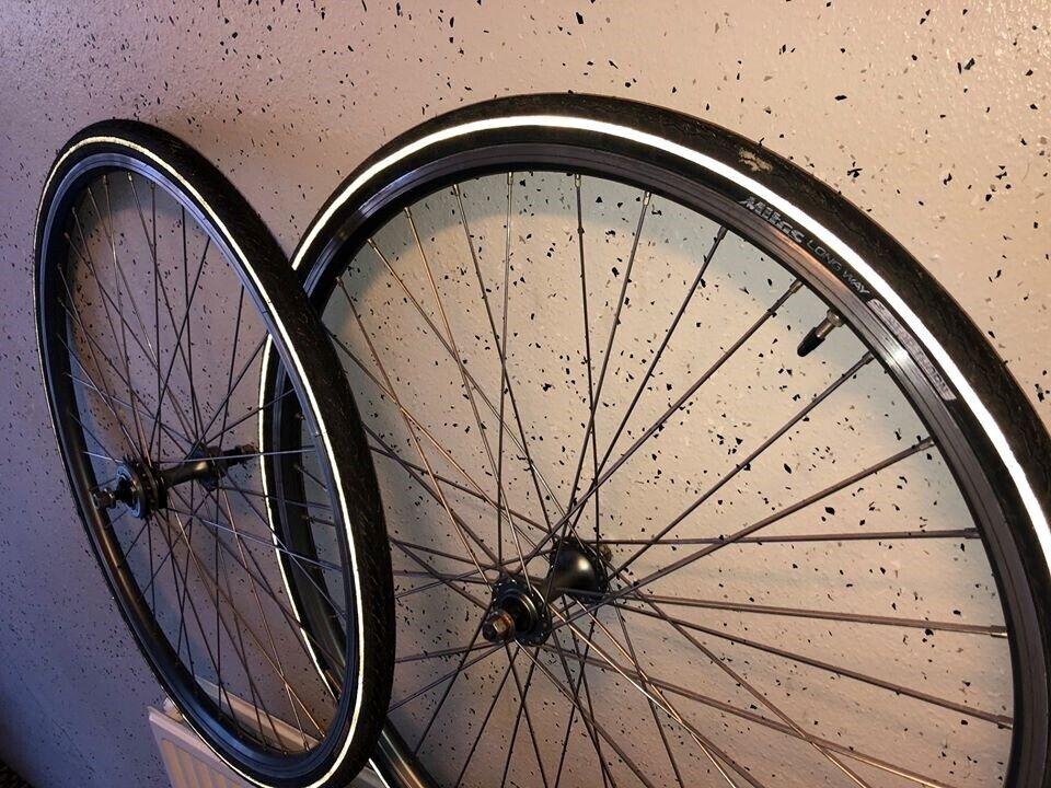 Hjul, fixi hjul 700c-28 med friløbskrans sturmey krans