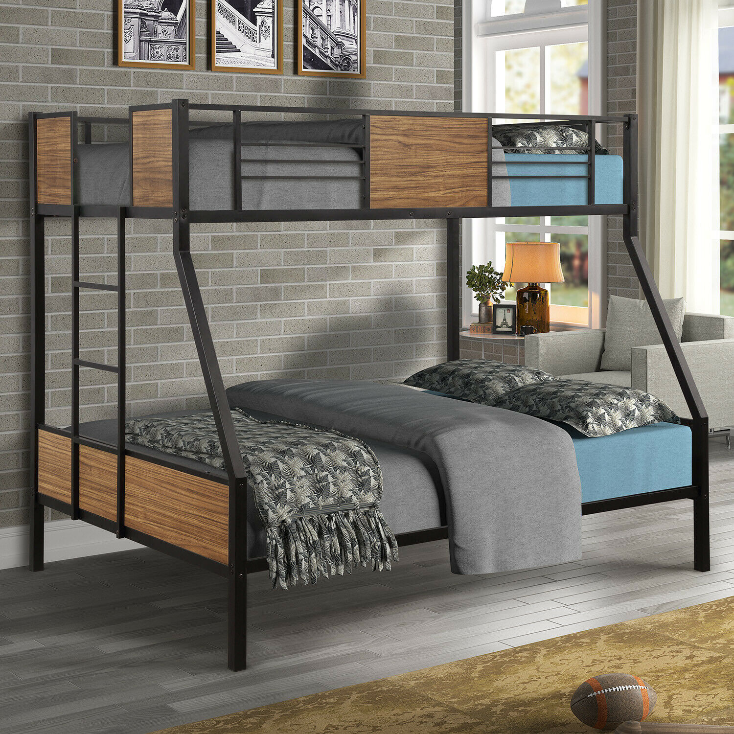 Twin Full Size Bunk Beds Steel Frame Tiendamia Com