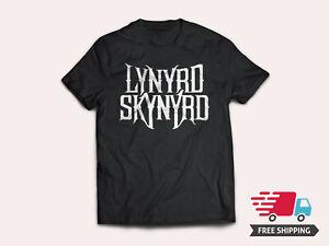 LYNARD-SKYNARD-SKULL-Classic-Logo-Men-039-s-T-Shirt-Rock-Funny-Black-Cotton-Tee-2