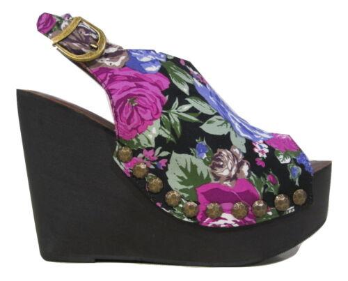 Scarpe Donna Snick Jeffrey Zeppa Originali Nere Tacchi Floral Campbell Sandali xYA0w01q