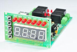 7 day digital clock timer 128 program 4 channel 12v 10a relay outputimage is loading 7 day digital clock timer 128 program 4