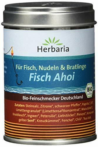 """1 Pack 1 x 85 g Herbaria /""""Fisch Ahoi/"""" Fischgewürz M-Dose BIO"""