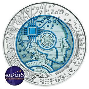 Piece-25-euros-AUTRICHE-2019-Argent-Niobium-L-039-Intelligence-Artificielle