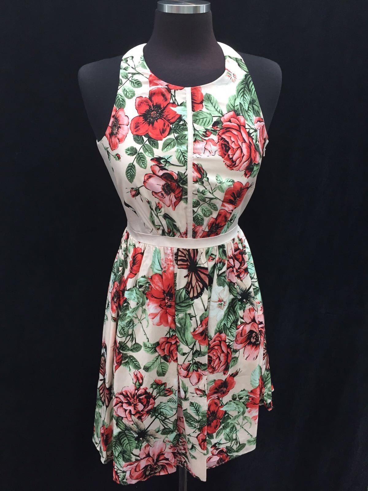 Adrianna Papell   Größe 8  Einzelhandel  Nordstorm Kleid  Baumwolle Stretch
