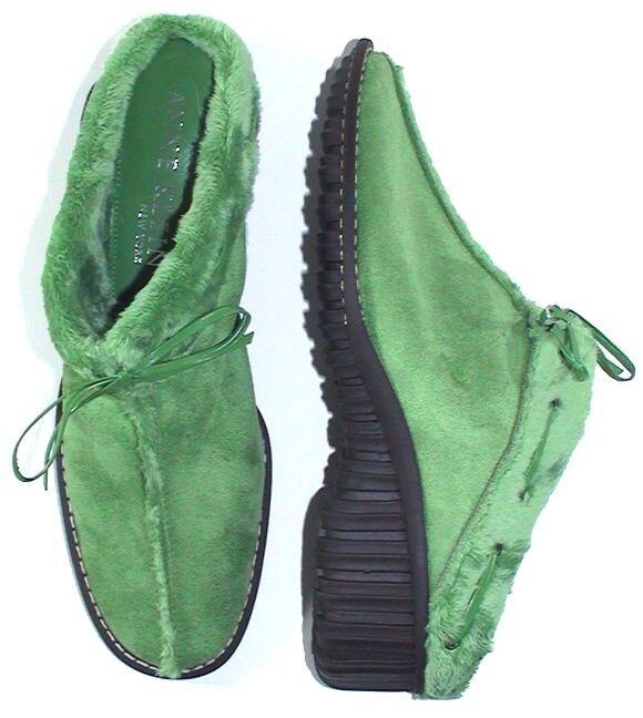 Women's Shoes ANNE KLEIN 'Chilly' Suede Mules Slides w/ Fur Lining Sz 11 US NIB