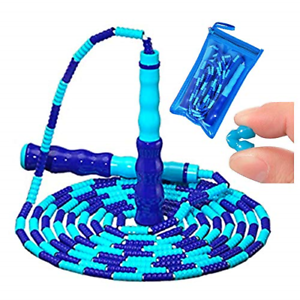 Jump Rope for Kids,Soft Beaded Jump Rope, Adjustable Tangle-Free Jump Rope with