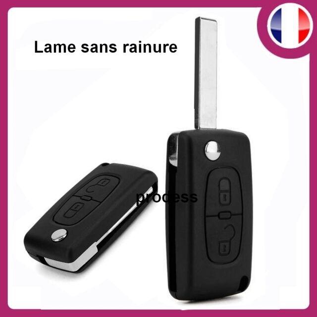 Coque Télécommande plip clé Peugeot  compatible 807 2 bouton CE0536 sans rainure