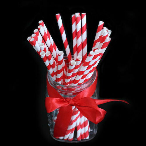 25Pcs Gold Home Drink Paper Straws Wedding Birthday Party Supplies Decoration