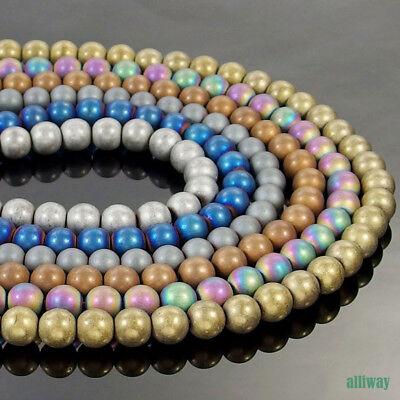 "Crystal Quartz Gemstone Smooth Round Ball Spacer Beads 4mm 6mm 8mm 10mm 12mm 16/"""