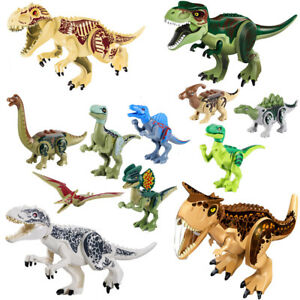 8-12Pcs-Kids-Building-Blocks-Park-Dinosaur-Toys-World-Toy-Gift-Animal-Action