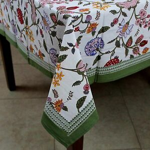 Image Is Loading Handmade Floral Berry Print Cotton Tablecloth Rectangular  60