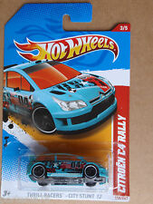 2012 Hot Wheels CITROEN C4 RALLY 198/247 City Stunt INTERNATIONAL CARD Aqua