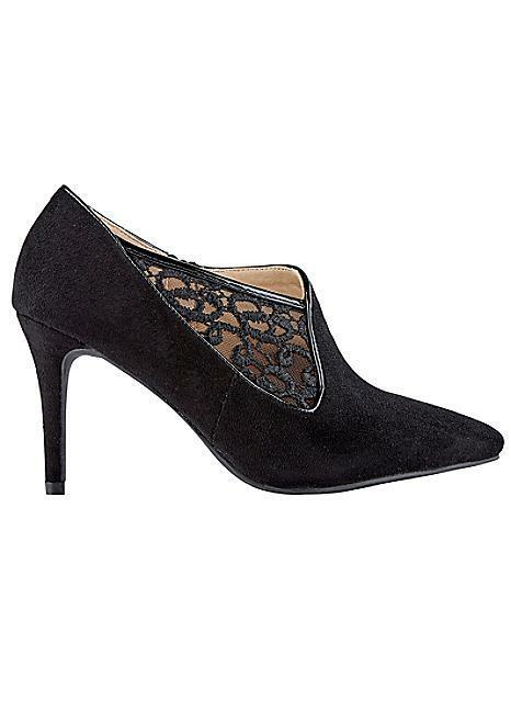 Kaleidoscope Lace Insert shoes Boots Black UK 5 EU 38 NH02 74 SALEw