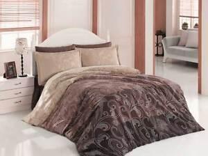 4 tlg bettw sche bettgarnitur bettbezug 100 baumwolle kissen 200x220 cm ebrl br ebay. Black Bedroom Furniture Sets. Home Design Ideas