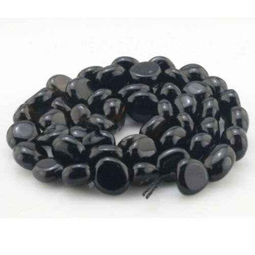 5-10mm Natural Black Agate Chip Nugget Beads Free Form Loose Beads 15.5/""