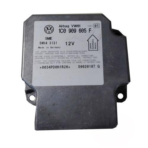 Seat Airbag 1C0909605F Index 01  Steuergerät 36 Monate Garantie 100/% Skoda VW