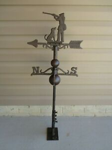 CAST IRON ROOSTER WEATHERVANE WEATHER VANE FENCE MOUNT GARDEN FARM BARN