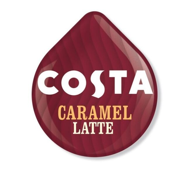 Tassimo Costa Caramel Latte Coffee Pods Pack Of 45