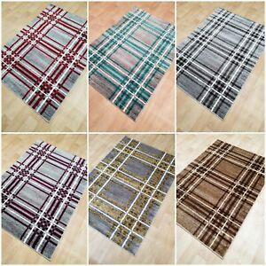Tartan-Rug-Small-Large-Short-10mm-Soft-Pile-Rug-Mat-Carpet-Living-Room-Large-Rug