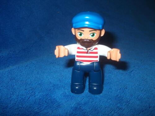 Lego Duplo Ville ferroviaire pêcheurs homme barbe A 10875 NEUF nouveau modèle capitaine