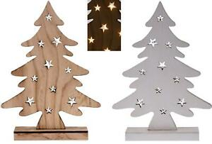 Ebay Weihnachtsdeko.Details Zu Weihnachtsbaum Aus Holz 10 Led Batteriebetrieben 37 Cm Weihnachtsdeko