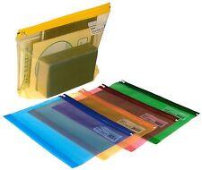 Snopake A4 + ad alta capacità forte di plastica trasparente Storage ZIP Zippa bag-5pack