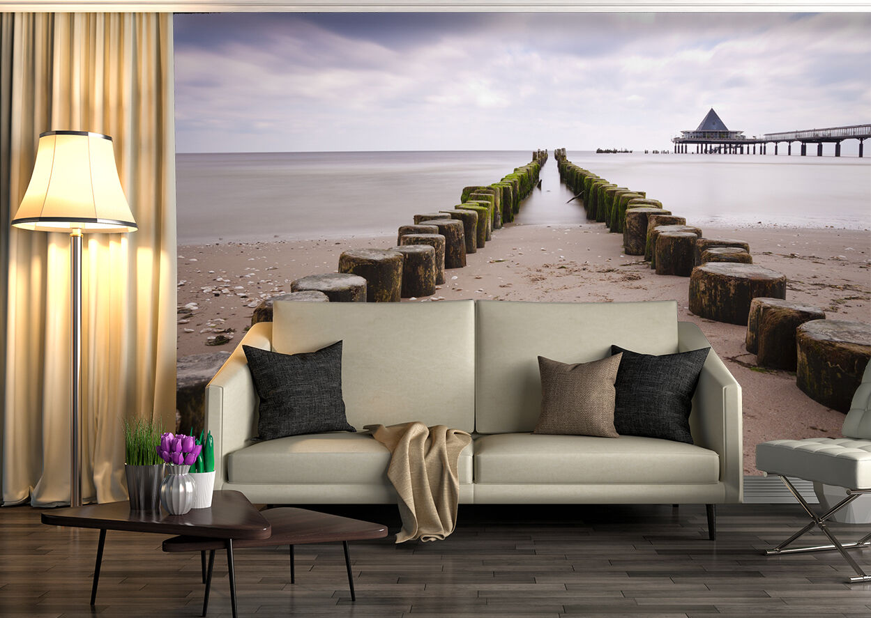3D beach sand scenery Wall Paper wall Print Decal Wall Deco Indoor wall Mural