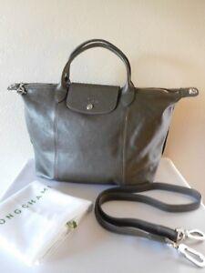 New LONGCHAMP Le Pliage Cuir Medium Leather Shoulder Tote Bag ...