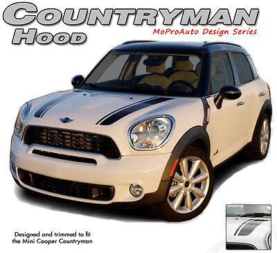 Countryman Hood Clubman 3M Pro Dual Stripes Decals Graphics fits Mini Cooper