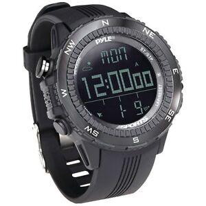 PYLE-PSWWM82BK-Digital-Multifunction-Active-Sports-Watch-Black