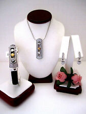 "Brighton ""HEART OF GOLD"" Necklace-Earring-Bracelet Set (MSR$204) NWT/Pouch"
