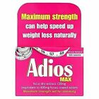 Adios Max Strength Weight Loss 100 Tablets Slimming Aid