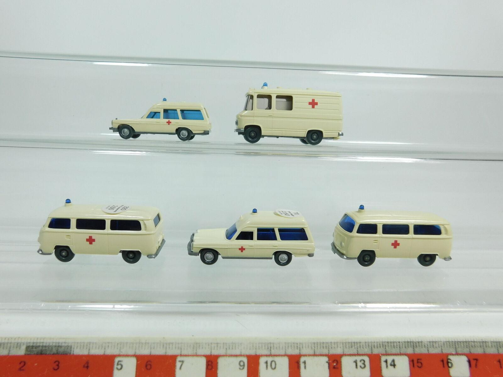Bd354-0, 5 x Wiking H0   1 87 Ambulance  320 Volkswagen +70 Mercedes etc. ,