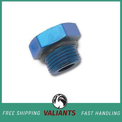 Russell 8 AN Straight Thread Plug Blue