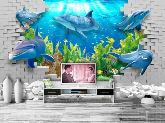 3D Ocean World Sharks 12 Paper Wall Print Decal Wall Wall Murals AJ WALLPAPER GB