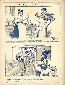 """Caricature Guerre Parisienne Taxi/Map Carte Balkans Serbia Bulgaria War 1917 WWI - France - Commentaires du vendeur : """"OCCASION"""" - France"""