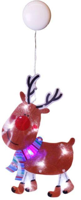 Fensterbeleuchtung Weihnachten Led.Jahreszeitliche Dekoration Led Fensterbeleuchtung Elch Weihnachten