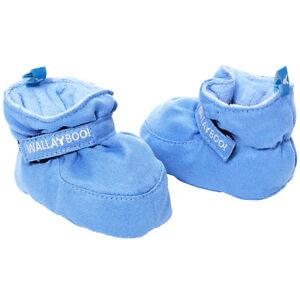 WALLABOO Suave Bebé Zapatos de recién nacido Niños Infantes Botines de ante de 0-6 meses azul