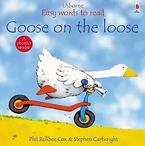 Goose-on-the-Loose-Usborne-Easy-Words-to-Read-Cox-Phil-Roxbee-Used-Good-Bo
