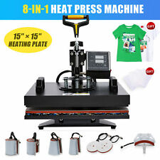 15x15 T Shirt Heat Press Machine For Shirts Hats Mugs Pads Plates More 8 In 1