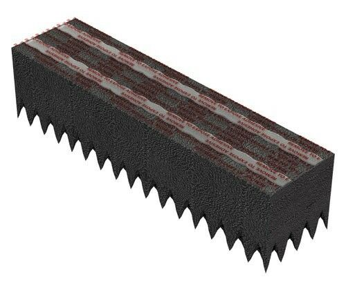 """Ridge Vent Foam for Metal//Residential Roofing 1-1//2/"""" x 10/'"""