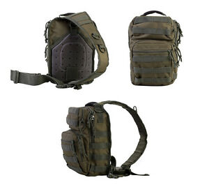 Green /& Red Mini Molle Tactical Recon 10 Litre Shoulder Day Bag Back Pack MTP