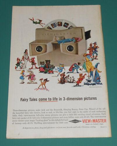 Vintage 1964 Sawyers VIEW MASTER Ad Disney Jack and Jill Magazine Kids